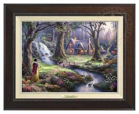 Snow White Discovers The Cottage by Snow White Discovers The Cottage Canvas Classic