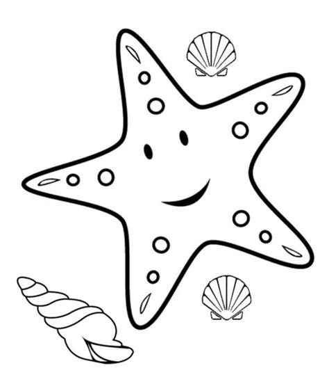 starfish coloring pages preschool simple fish drawing clipartsco simple fish coloring