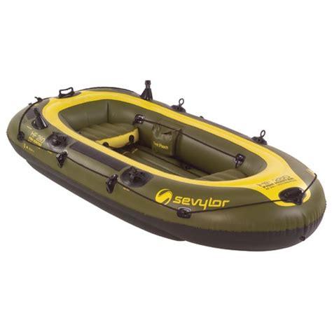 sevylor inflatable fishing boat sevylor fish hunter 4 person inflatable boat