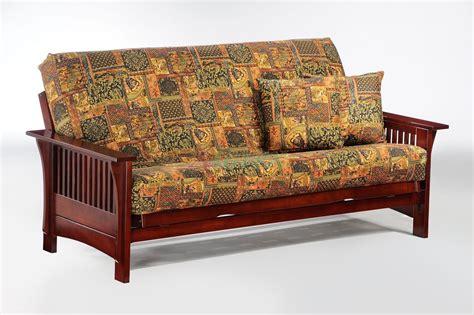 futon oak night and day autumn futon in chocolate honey oak natural