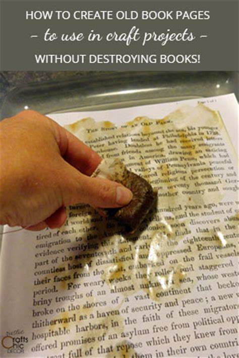 How To Make Paper Look Without Tea - book crafts use book pages without destroying books