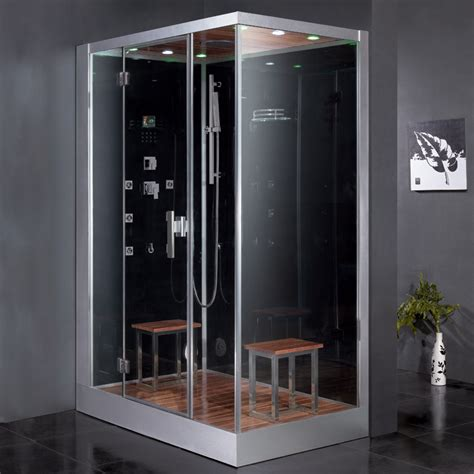 Ariel Platinum Dz961f8 Black Left Steam Shower Ariel Bath