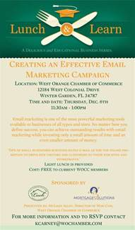 Lunch And Learn Template by Lunch And Learn Creating An Effective Email Marketing