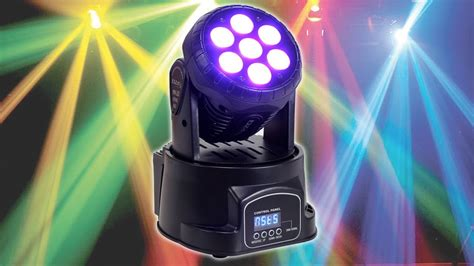 Stage Right Lighting by Ibiza Lhm350led Mini Moving Head Light Effect Led Stage Dj