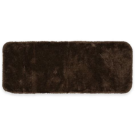 60 inch bath rug buy finest luxury 26 inch x 60 inch bath rug in chocolate from bed bath beyond