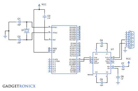 serial communication serial communication in 8051 microcontroller gadgetronicx