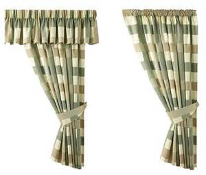 Checked Kitchen Curtains Green Pencil Pleat Check Gingham Kitchen Curtains Inc Free Tie Backs Ebay