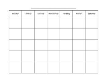blank monthly calendars teachers blank monthly calendar by alexandra elliot teachers pay