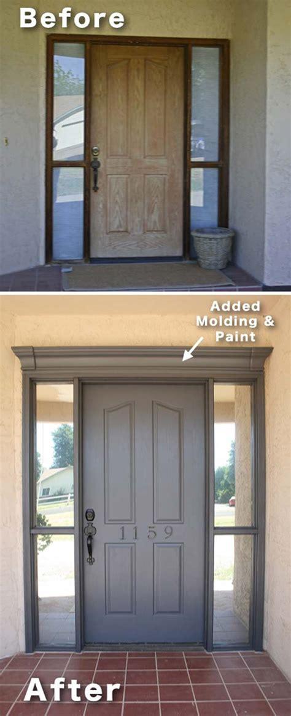 inexpensive ways  dress   home  molding