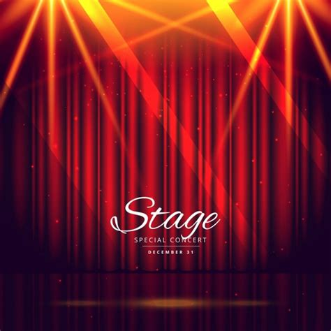 free stage background design vector red stage background with closed curtains vector free