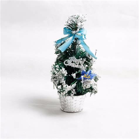 mini tabletop christmas tree ornament multi patterns
