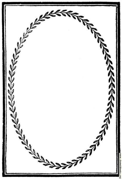 894.—Full-page border with laurel-leaf frame