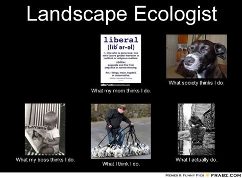 Landscaping Memes - landscape ecologist meme generator what i do