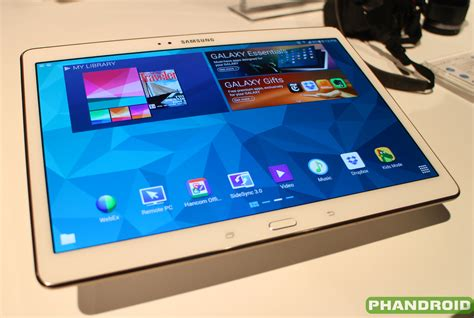 on samsung galaxy tab s