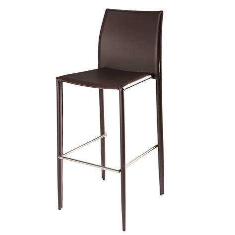 chaise de bar maison du monde chaise de bar en cuir recycl 233 et m 233 tal chocolat klint