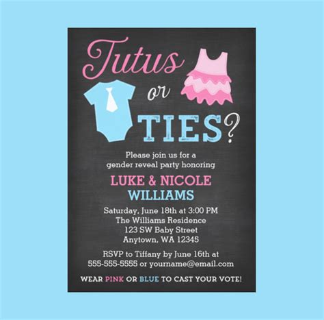 Gender Reveal Party Invitations Oxsvitation Com Gender Reveal Invitation Template