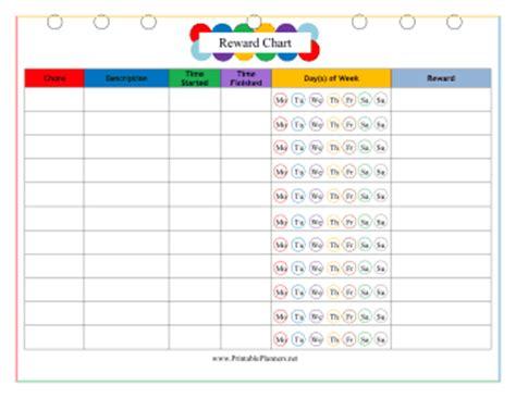printable reward charts for adults adult reward planner