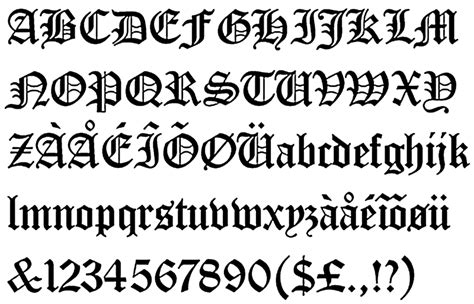 tattoo font english calligraphy old english letters