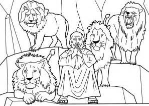Daniel And The Lions Den Coloring Pages sketch template