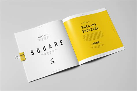 catalog design mockup square brochure catalog booklet mock up on behance