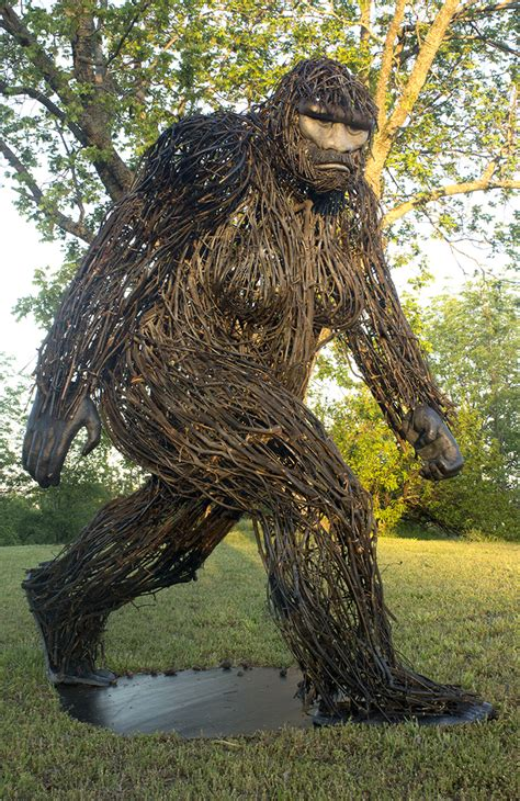 bigfoot mixed media sculpture hot wire foam factory