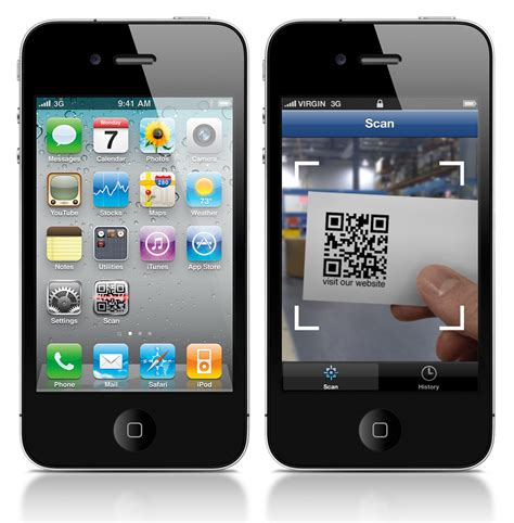 how to scan qr code on iphone mobile