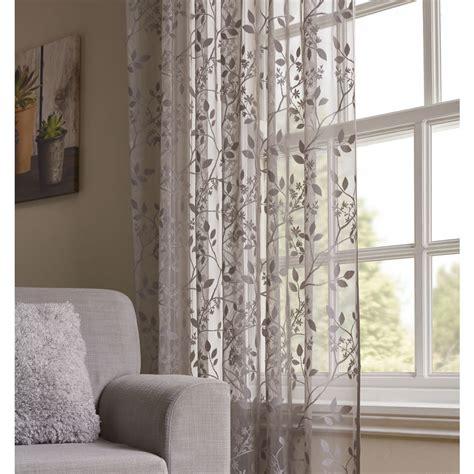 net curtains wilko wilko voile lace soft grey 145 x 225cm at wilko com