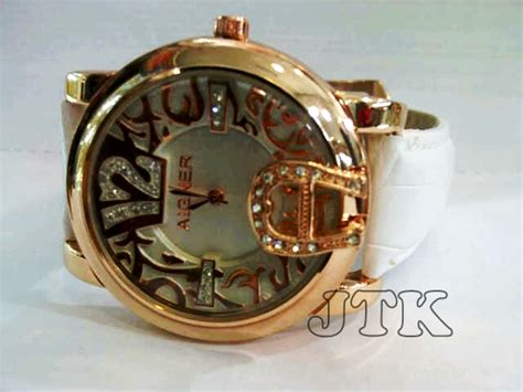 Jam Tangan Aigner Cewek Rantai Best Seller Kado Ulang Tahun jam tangan aigner dona angka gold leather rp 200 000