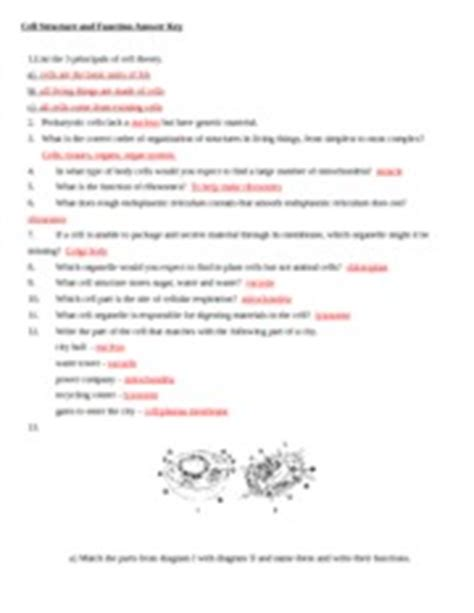 section 7 2 eukaryotic cell structure worksheet answers cell structure and function answer key vacuole 10 which
