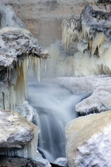 frozen waterfalls frozen waterfall magnificent mother nature pinterest