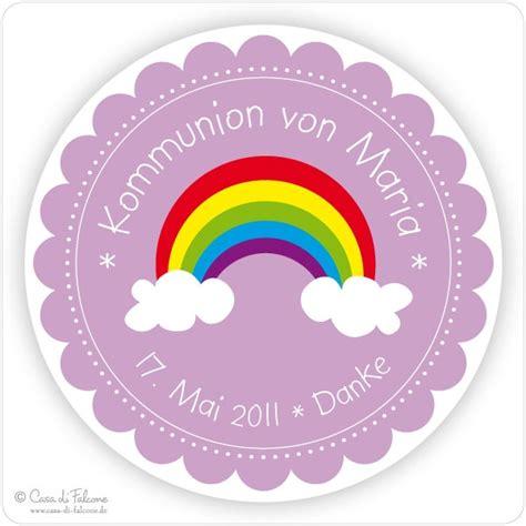 Sticker Drucken Ko by Kommunion Aufkleber Regenbogen Casa Di Falcone