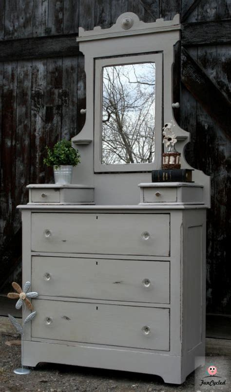 Grey Vintage Dresser by Antique Grey Dresser With Mirror For Sale Funcycled