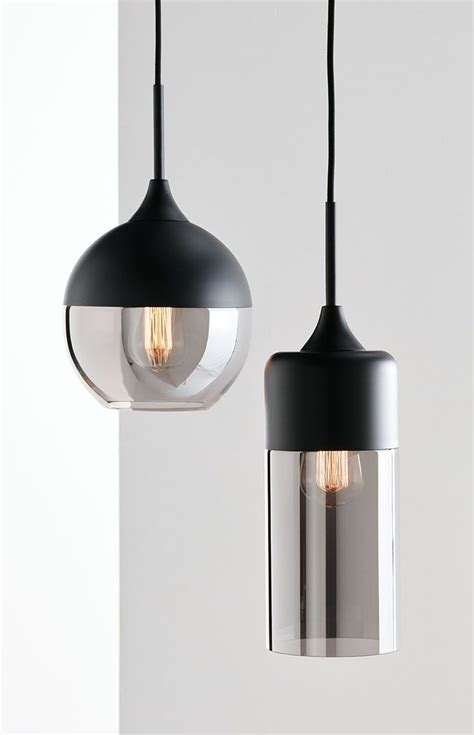 Beacon Pendant Lights The Beacon Lighting Lunar 1 Light Pendant In Black With Smoke Glass Inspiration From