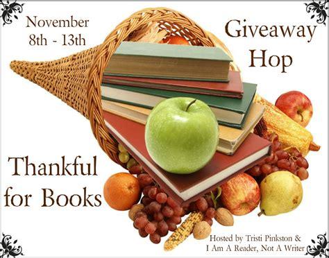 Giveaway Hop - walden pond books thankful for books giveaway hop