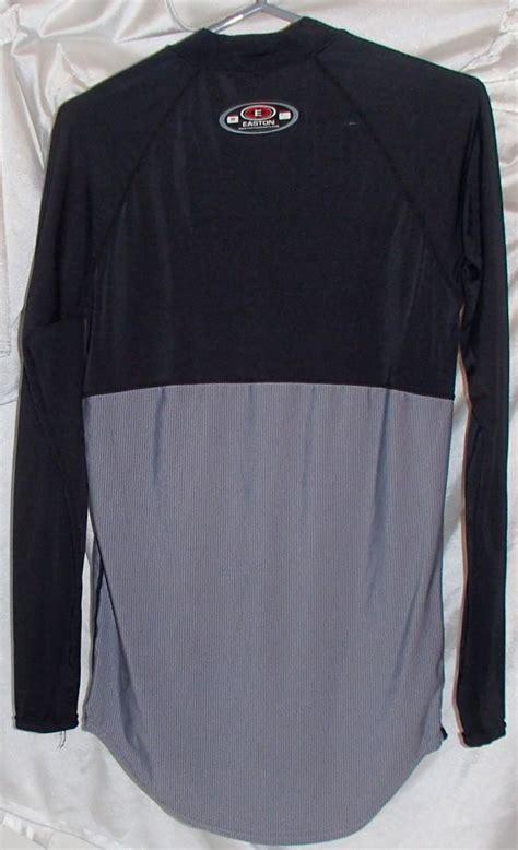 Lycra Layer Shirt easton black gray base layer sleeve spandex jersey compresion shirt m ebay