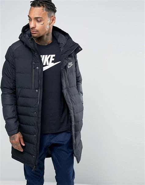 Jaket Nike Parka Taslan Black nike nike av15 parka jacket in black 807393 010