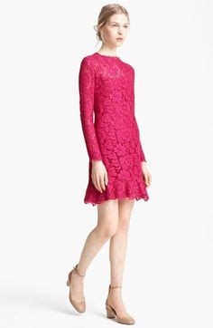 Valentino ruffle hem lace dress by valentino