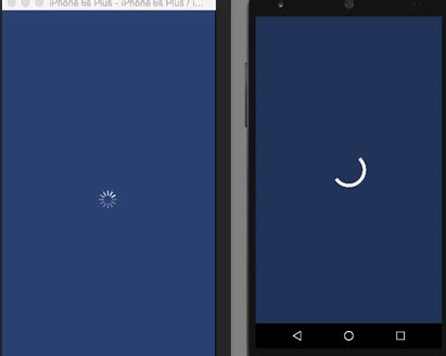 android loading spinner ios and android loading spinner progress bar indicator overlay