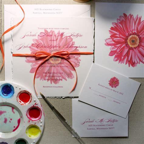 gerbera wedding invitations bridal shower invitations bridal shower invitations