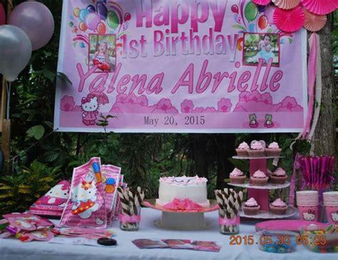 themes for the kitty party hello kitty birthday quot yalena s 1st birthday party samal