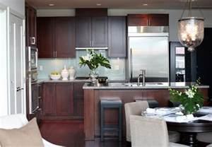 Glossy Black Kitchen Cabinets Cherry Cabinets Design Ideas