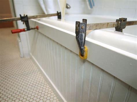 beadboard bathtub update a bathtub surround using beadboard bathtub