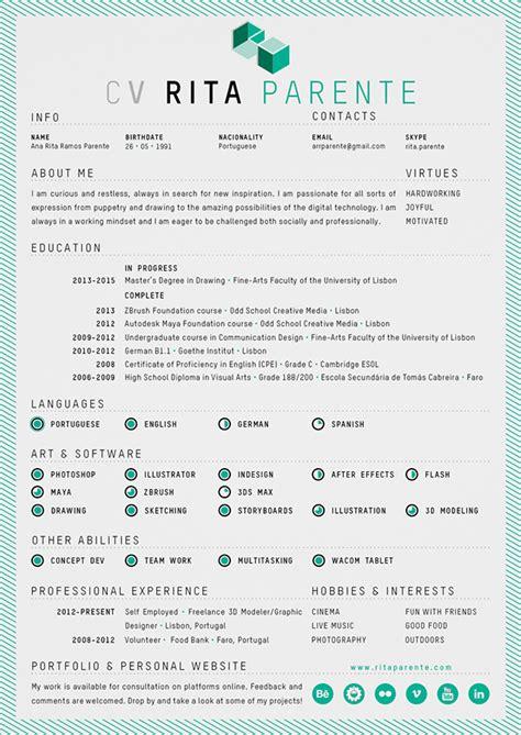 curriculum vitae design jobs self promo logo card cv on behance