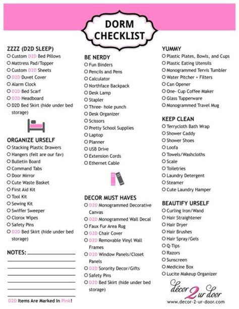 room checklist for college freshmen checklist archives decor 2 ur door