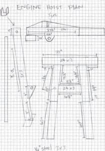 Garage Plans With Shop engine hoist plans honda tech