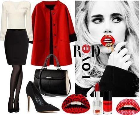 imagenes negras con rojo look de invierno en rojo blanco y negro paperblog