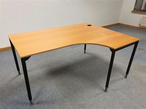 Ikea Galant Right Curved Office Desk Table With