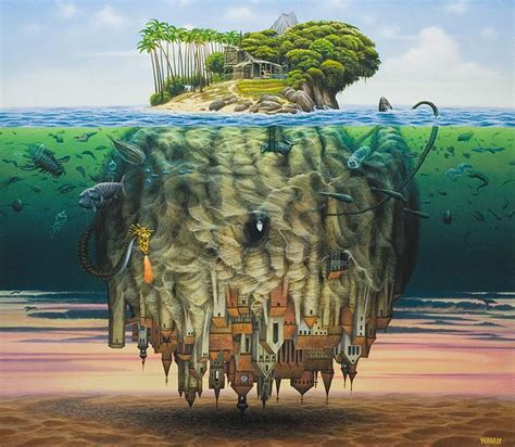 Yerka Paints Like An by Amazing Surreal Paintings By A Artist Jacek Yerka