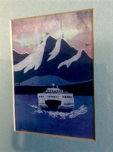 Leonard Batik ruth leonard batik on silk vehicle ferry crossing chanel with mt from gumgumfuninthesun on