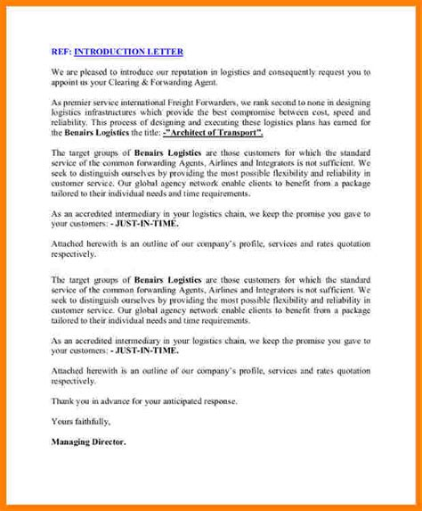 Introduction Letter Of Logistics Company How To Write An Introduction Letter Introduce The Logistics Company Cover Letter Templates